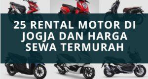 25 Rental Motor di Jogja dan Harga sewa
